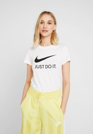 W NSW TEE JDI SLIM - Print T-shirt - white/black