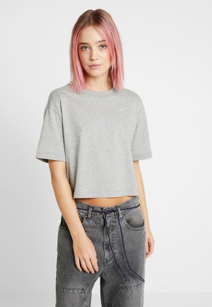 Camiseta básica - grey heather/white