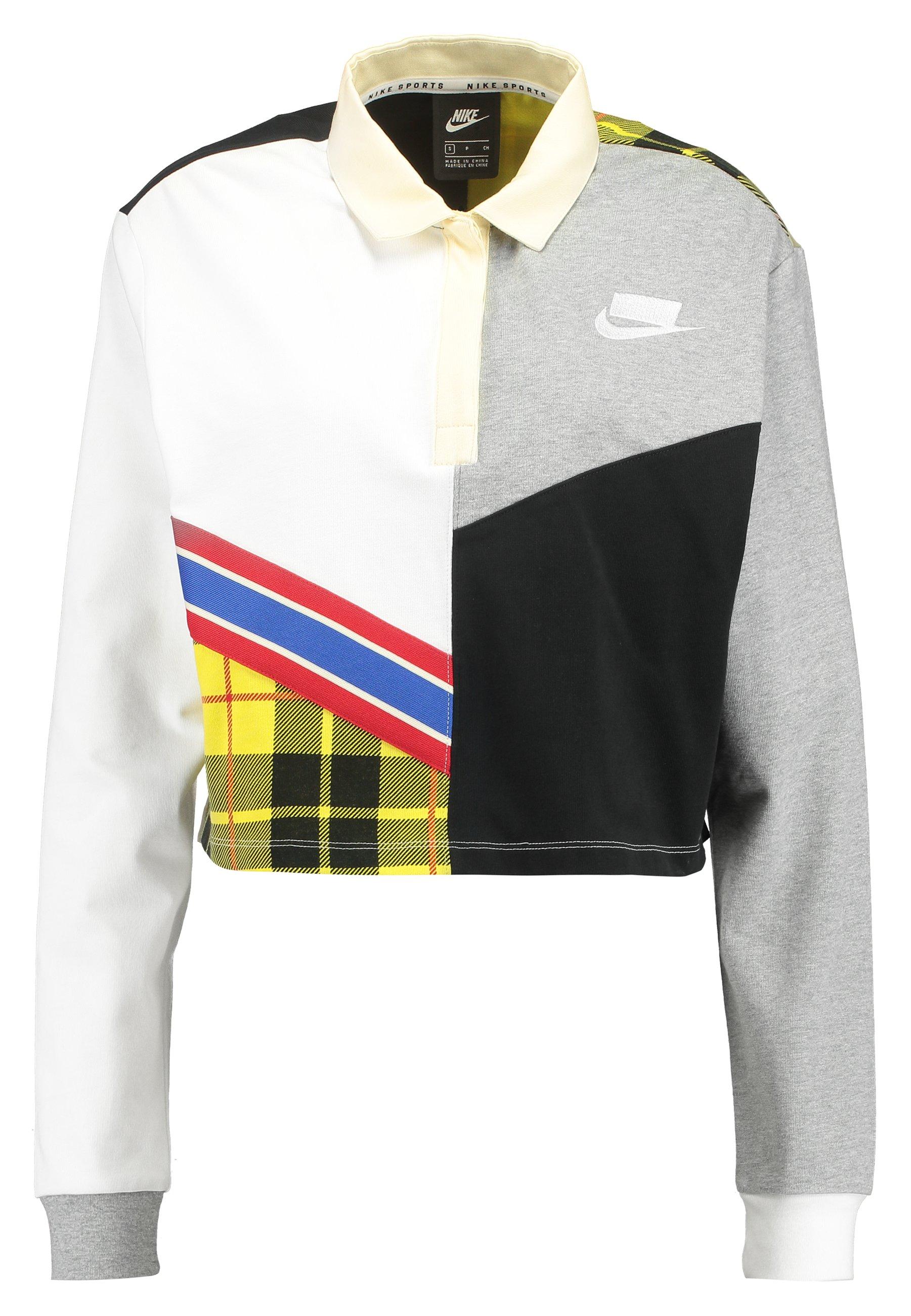 Nike Sportswear POLO RUGBY - Koszulka polo - white/dark grey heather/black/white