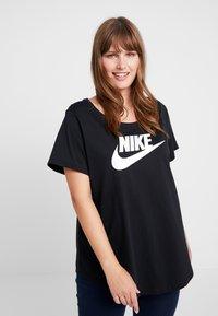Nike Sportswear - TEE FUTURA PLUS - Printtipaita - black/white - 0
