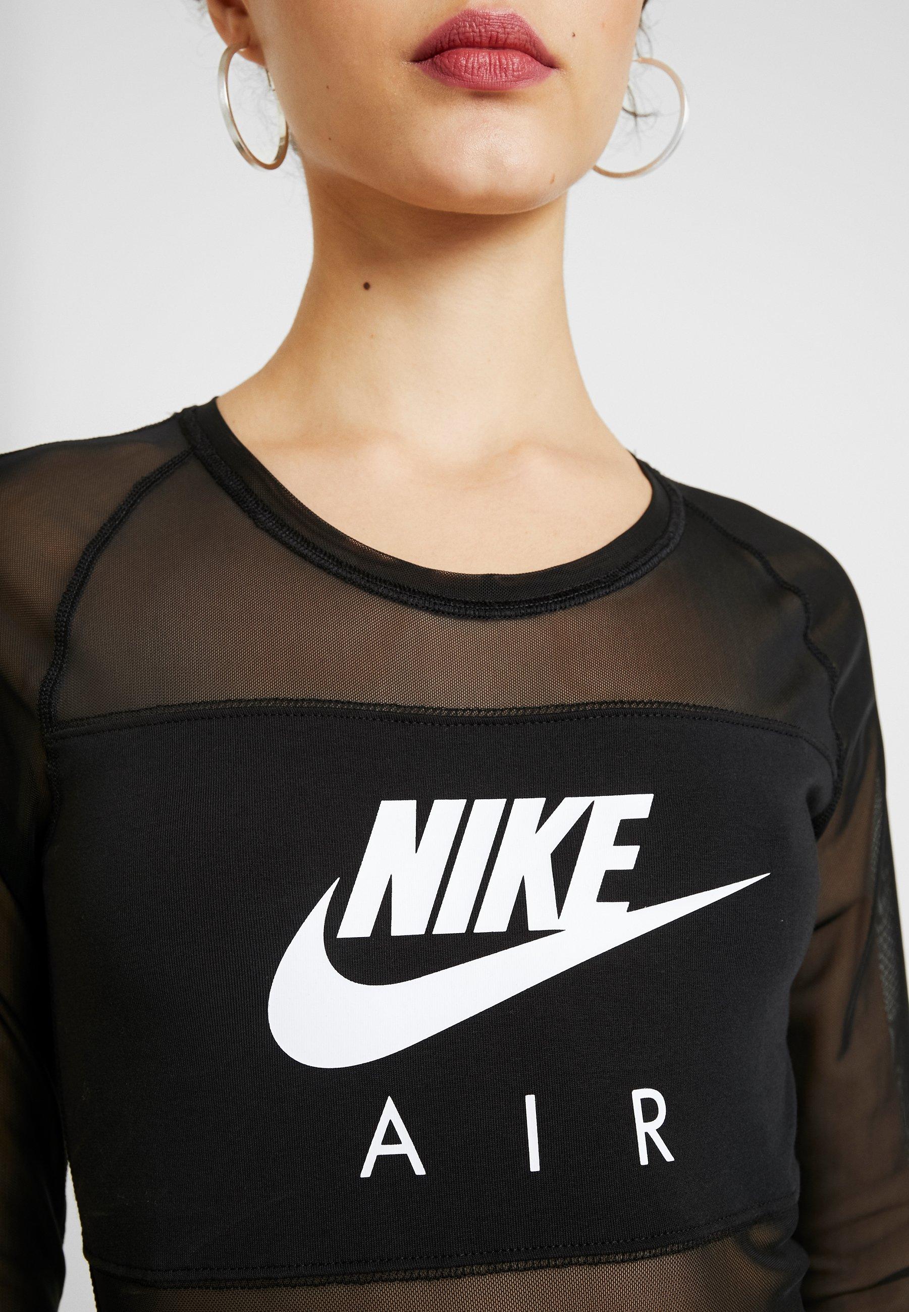 Nike Sportswear AIR BODYSUIT - Maglietta a manica lunga - black