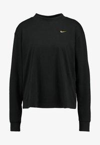 Nike Sportswear - Long sleeved top - black/metallic gold - 3