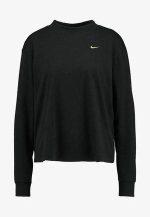 T-shirt à manches longues - black/metallic gold