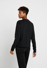 Nike Sportswear - Long sleeved top - black/metallic gold - 2
