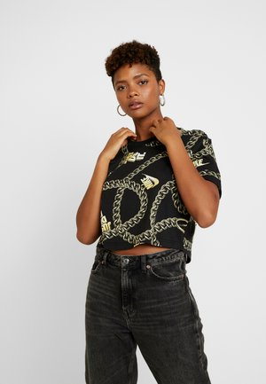 GLAM DUNK CROP - T-shirt imprimé - black