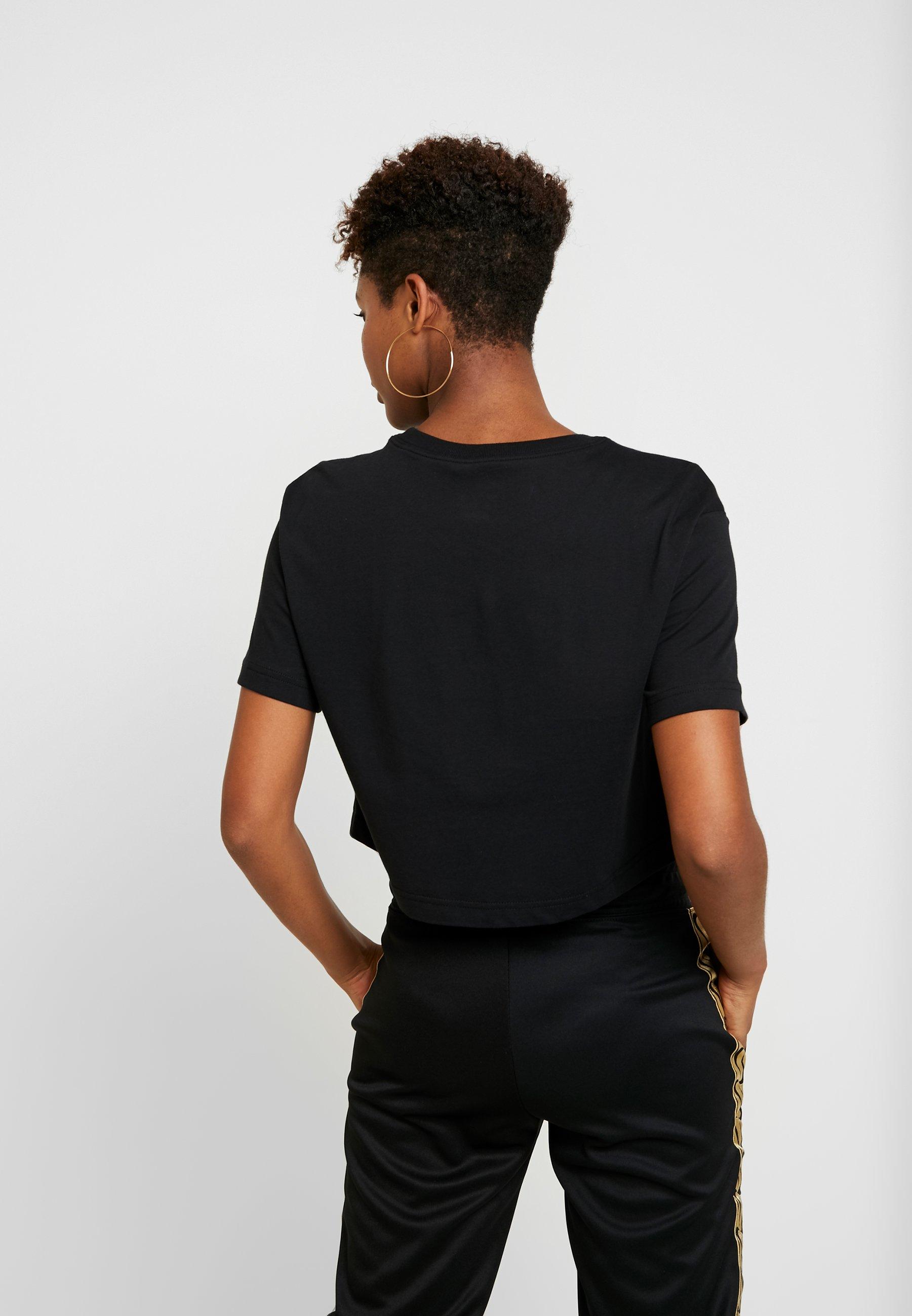Sportswear shirt Nike TEE CROP GLITTERT black imprimé Qsthdr