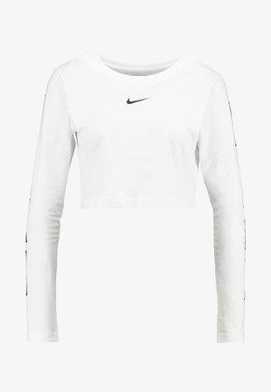 TEE CROP - Top sdlouhým rukávem - white/black