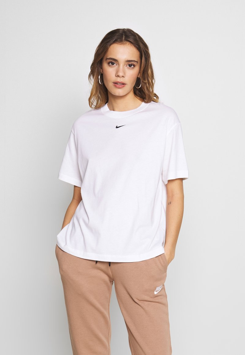 Nike Sportswear - W NSW ESSNTL TOP SS BF - T-Shirt basic - white/black