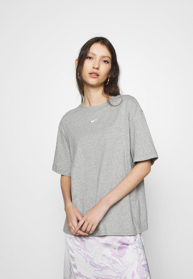 T-shirt basic - dark grey heather/white