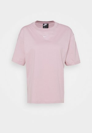 Basic T-shirt - plum chalk/white