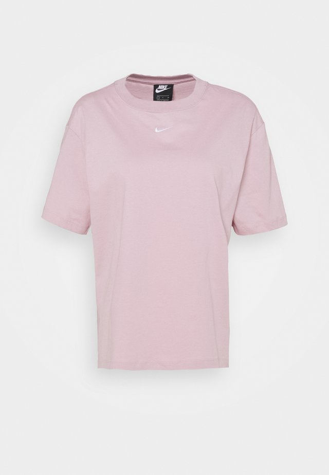 Basic T-shirt - plum chalk/white