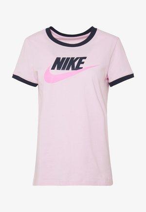 TEE FUTURA RINGER - T-shirt z nadrukiem - pink foam/obsidian