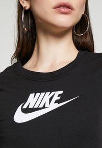 Nike Sportswear - BODYSUIT - Print T-shirt - black/white - 5