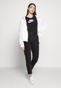 Nike Sportswear - BODYSUIT - Print T-shirt - black/white - 1