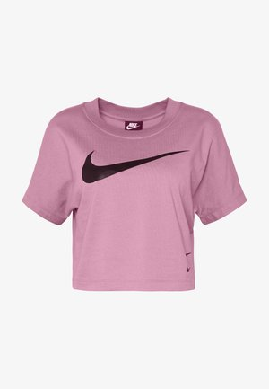 T-shirts med print - plum dust/black
