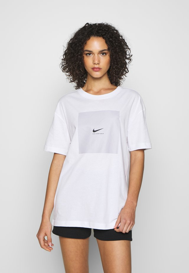 TEE OVERSIZED LUX  - Camiseta estampada - white