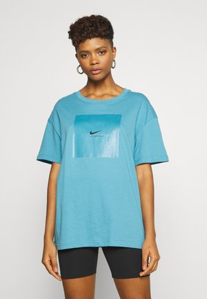 TEE OVERSIZED LUX  - T-shirts med print - cerulean/black