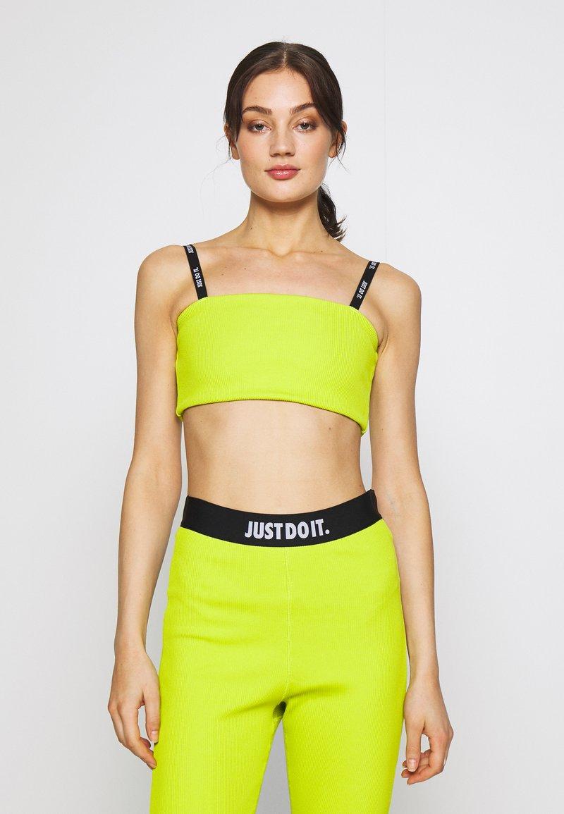 Nike Sportswear - W NSW TOP JDI RIB - Top - bright cactus