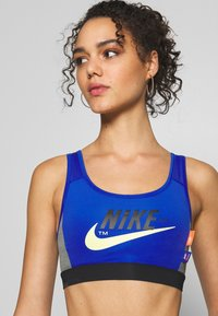 Nike Sportswear - MED PAD ICNCLSH BRA - Top - game royal/black/smoke grey/(limelight) - 3