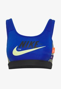 Nike Sportswear - MED PAD ICNCLSH BRA - Top - game royal/black/smoke grey/(limelight) - 4