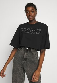 Nike Sportswear - AIR CROP - Printtipaita - black - 0