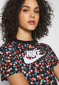 Nike Sportswear - TOP FLORAL - T-shirt print - black/(white) - 4