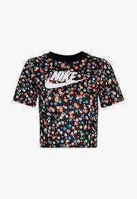 Nike Sportswear - TOP FLORAL - T-shirt print - black/(white) - 3