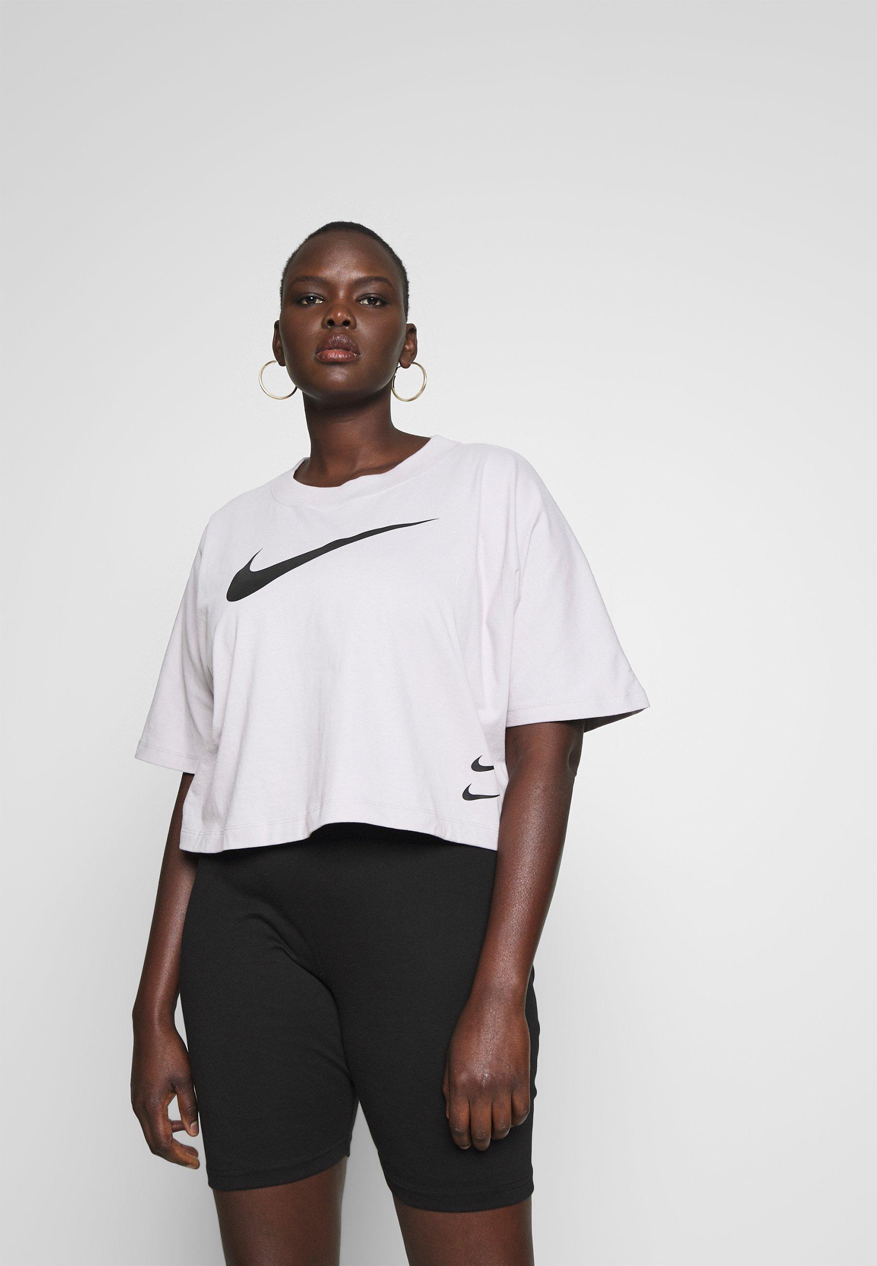 Nike Sportswear T-shirts med print - silver lilac/black