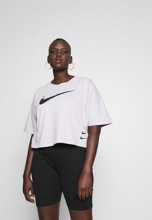 T-shirts med print - silver lilac/black