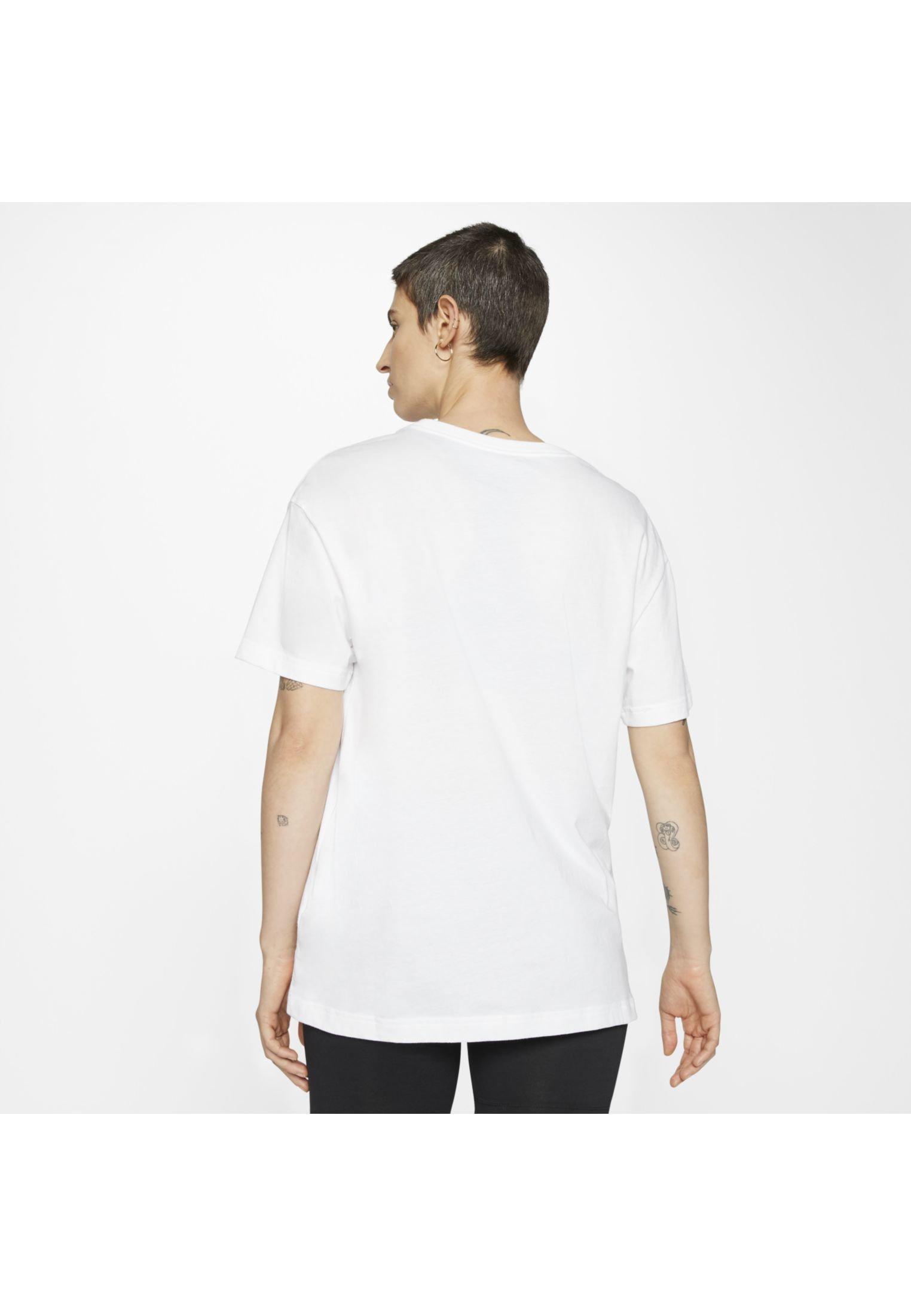 Nike Sportswear W NSW TEE BOY STREET 3 - T-shirt z nadrukiem - white