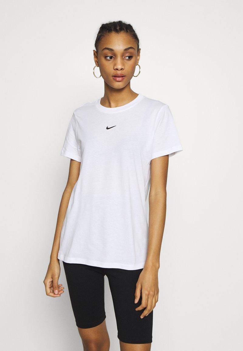 Nike Sportswear - TEE - T-shirt - bas - white/black