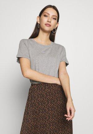 TEE - T-shirt basic - grey heather/white