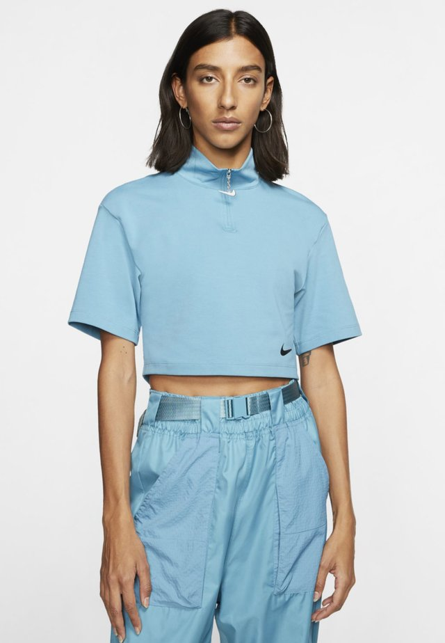 Print T-shirt - cerulean/black