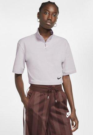 T-shirt print - silver lilac/black
