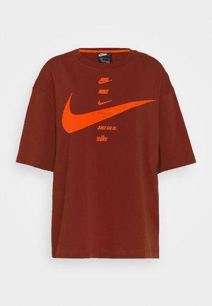 Print T-shirt - firewood orange/total orange