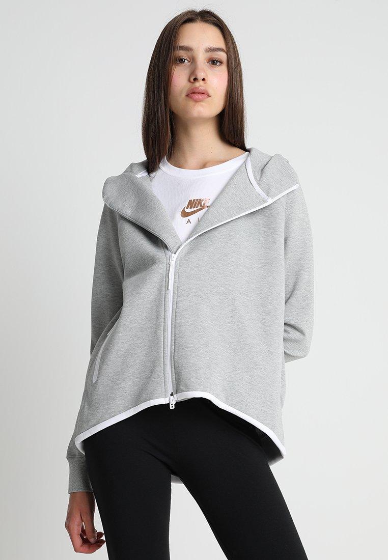 Nike Sportswear - W NSW TCH FLC FZ - Träningsjacka - grey heather/white