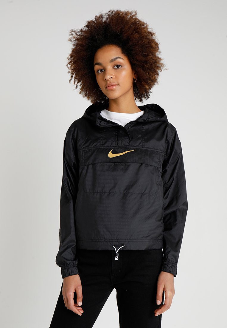 Nike Sportswear - Windbreaker - black/black/club gold
