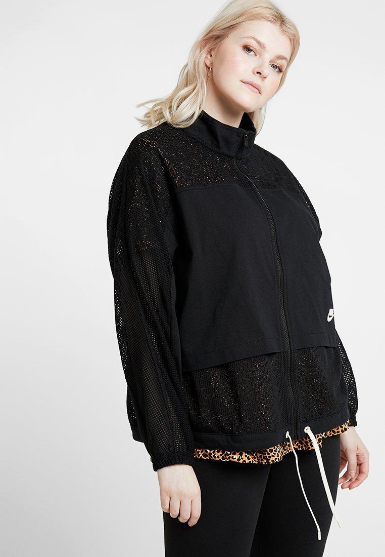 Nike Sportswear - PLUS - Training jacket - black/pale ivory