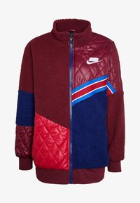 Nike Sportswear - Kort kåpe / frakk - night maroon/blue void/noble red/white - 4