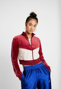 Nike Sportswear - PLUSH - Training jacket - team red/desert sand/university blue - 0