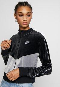 Nike Sportswear - PLUSH - Training jacket - black/cool grey/white - 3