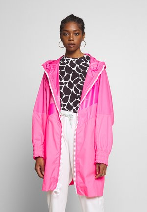 Classic coat - hyper pink/white
