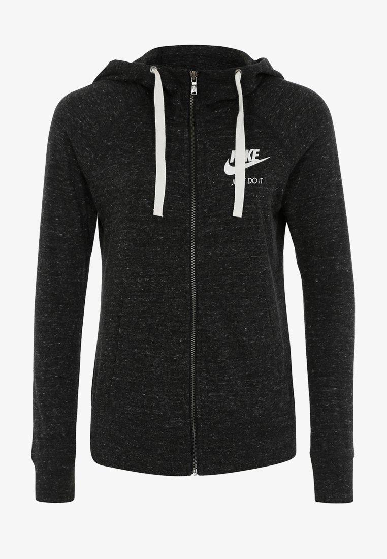 Nike Sportswear - VINTAGE HOODIE - Sweatjacke - anthracite/white