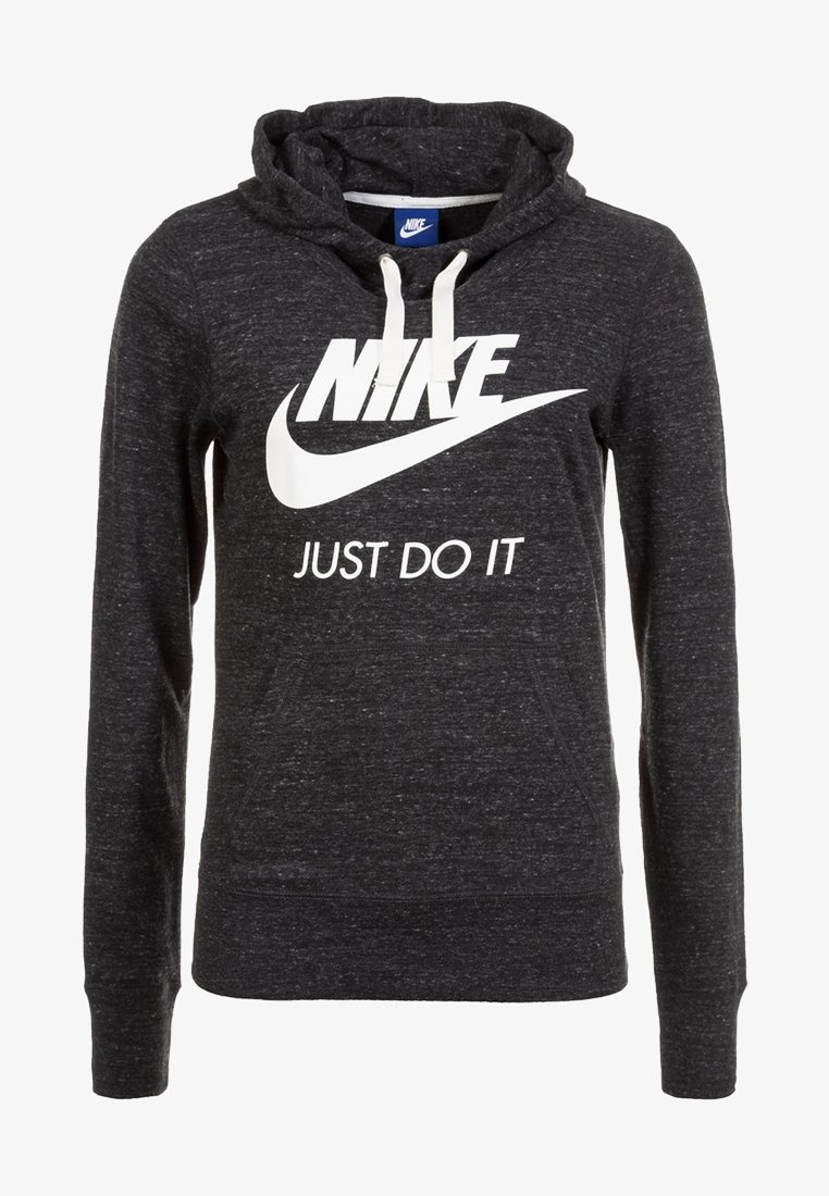 Nike Sportswear - GYM VINTAGE - Kapuzenpullover - mottled dark grey