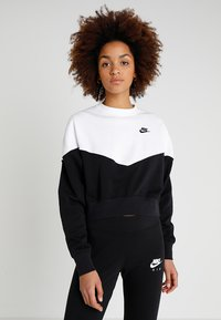 Nike Sportswear - W NSW HRTG CREW FLC - Sweatshirt - black/white/black - 0
