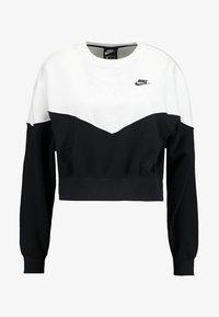 Nike Sportswear - W NSW HRTG CREW FLC - Sweater - black/white/black - 3