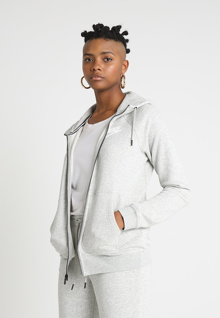 Nike Sportswear - RALLY - Sweatjacke - grey heather/pale grey/white