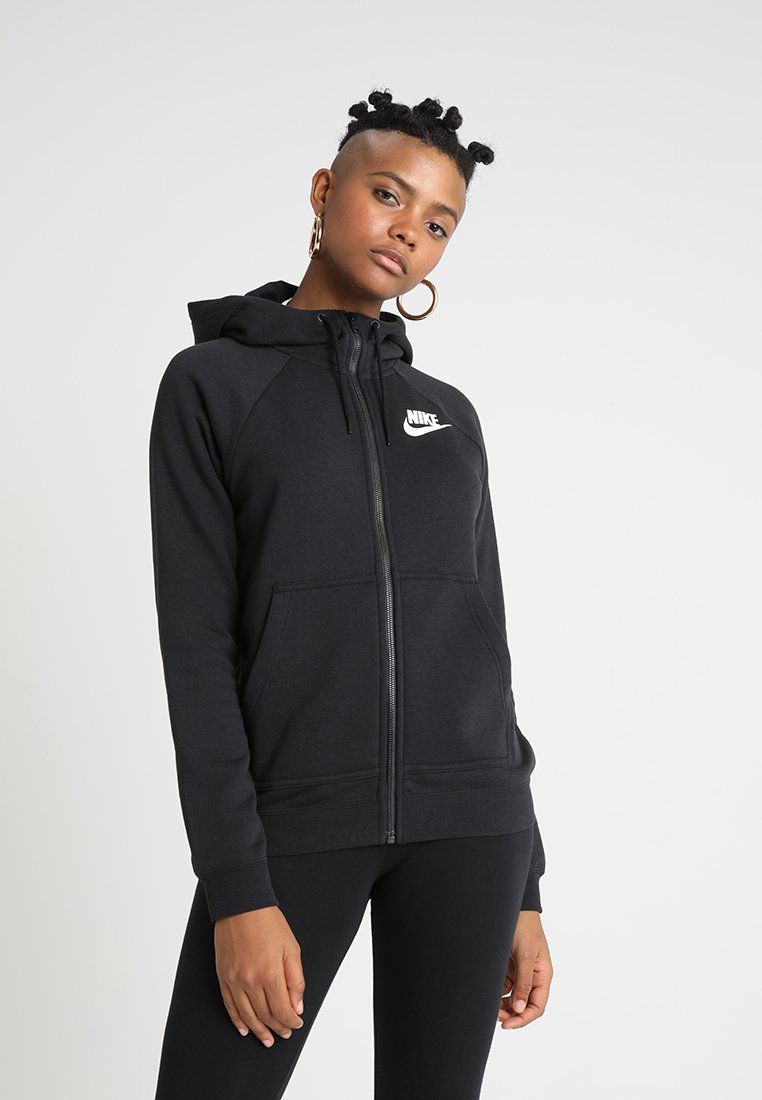 Nike Sportswear - RALLY - Sweatjacke - black/black/white