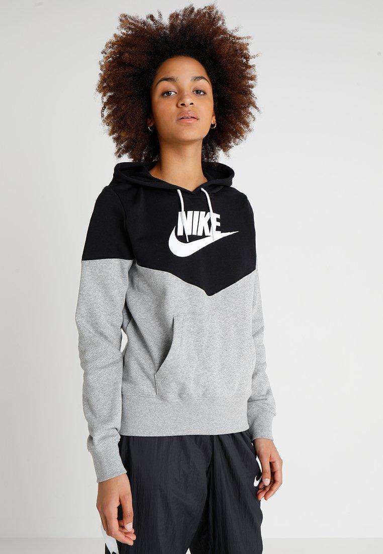 Nike Sportswear - HOODIE - Kapuzenpullover - dark grey heather/black/white