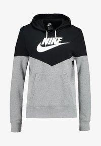 dark grey heather/black/white